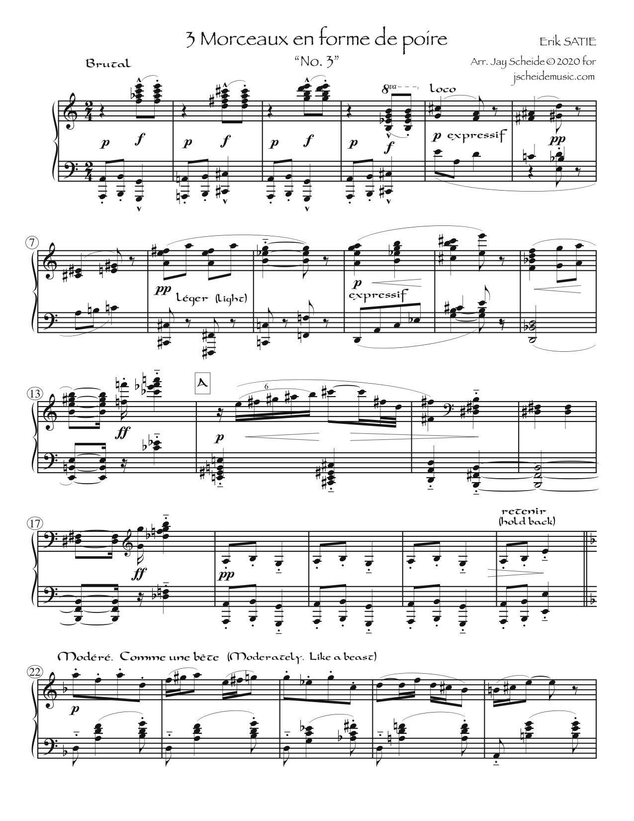 """""""No. 3"""" from 3 Morceaux en forme de poire"""